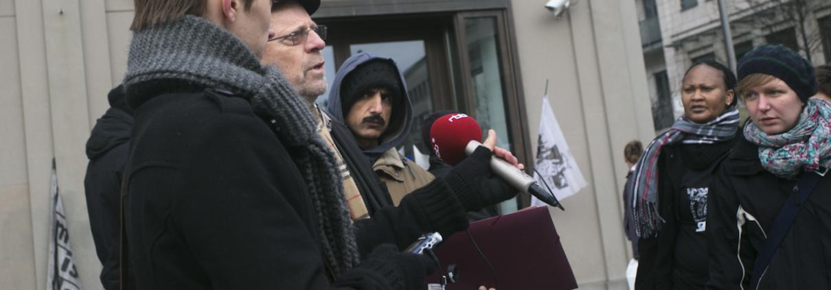 Pressekonferenz Flüchtlingscamp