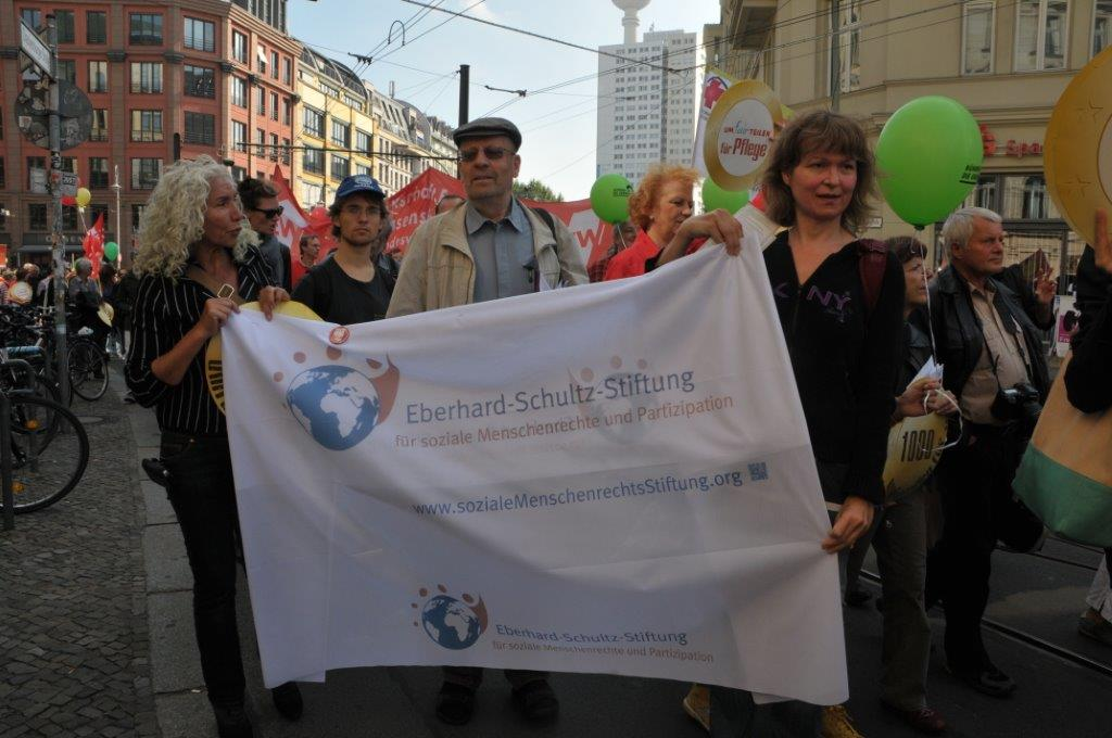 Transparent der Eberhard-Schltz-Stiftung am 14.9. in Berlin